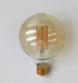 ΛΑΜΠΑ LED G95 ΜΕΛΙ E27 6W ΘΕΡΜΗ 2200Κ ADELEQ 13-2795600