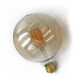 ΛΑΜΠΑ LED G125 ΜΕΛΙ E27 6W ΘΕΡΜΗ 2200Κ ADELEQ 13-27125600